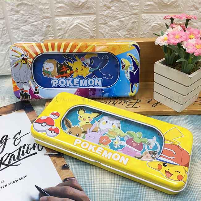 雙層鐵筆盒 寶可夢 皮卡丘 正版授權