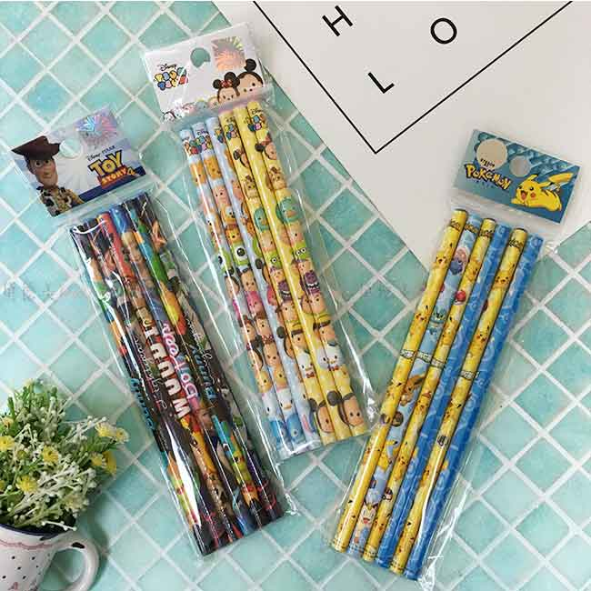 卡通木頭鉛筆6入 迪士尼 皮克斯系列 寶可夢 玩具總動員4  正版授權
