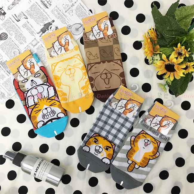白爛貓 22~26cm 卡通襪 五款選 短襪 正版授權