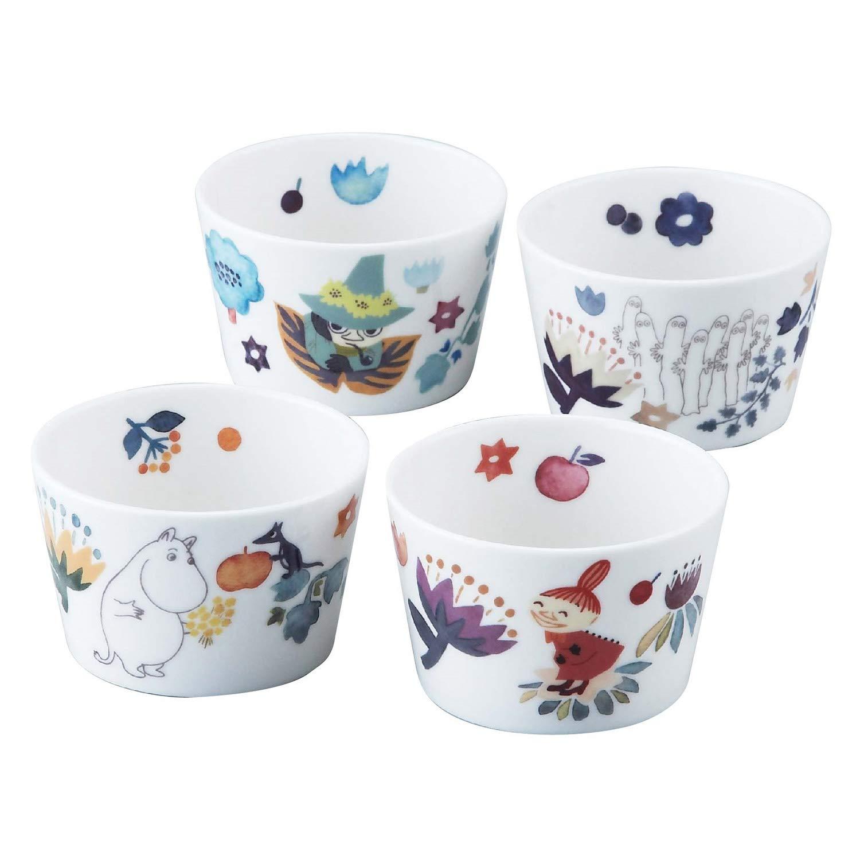 小杯碗 日本 嚕嚕咪 卡通角色人物 陶瓷 4入 小杯子 小碗 日本進口正版授權