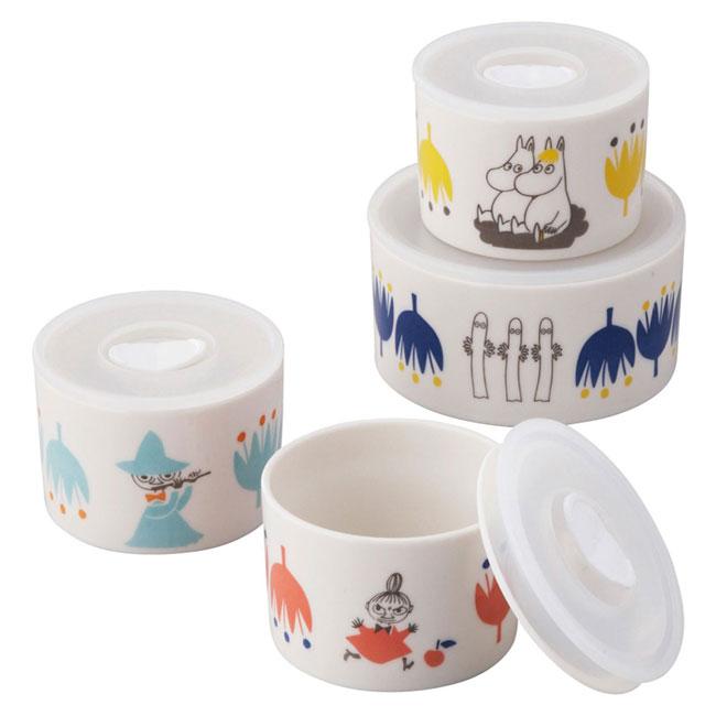 密封罐 日本 嚕嚕咪 卡通人物角色 4入 小碗 日本進口正版授權