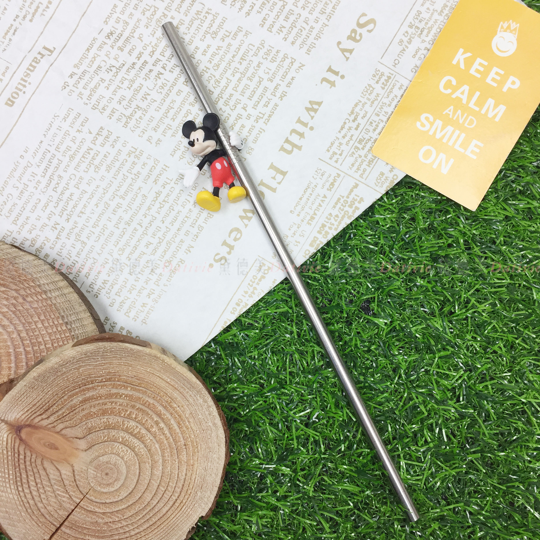 造型吸管 迪士尼 Disney 米奇 MICKEY 不鏽鋼吸管 正版授權