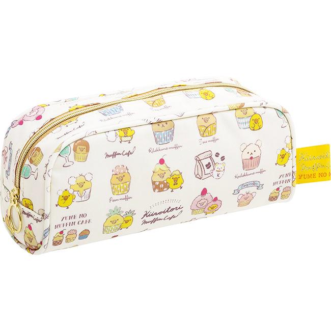 筆袋 SAN-X 鴨鴨 黃色 滿版 正版日本進口授權