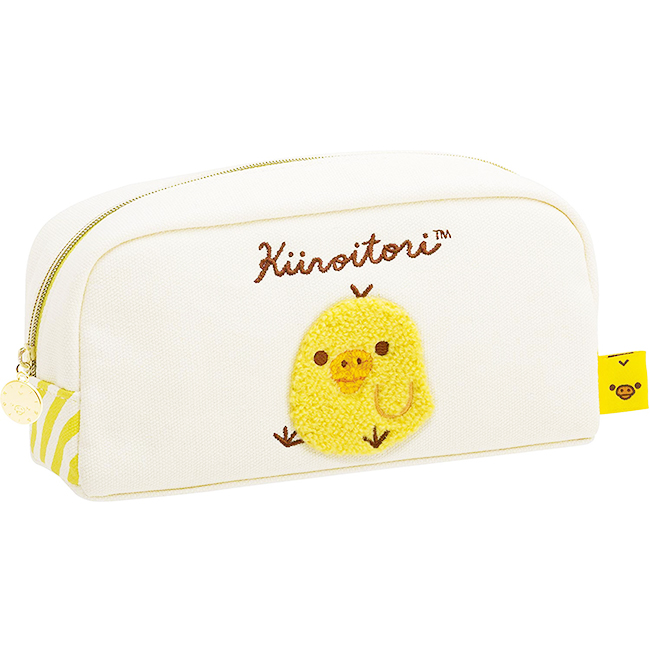 筆袋 SAN-X 小雞 黃色 刺繡 正版日本進口授權