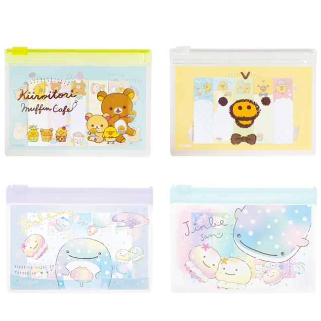 便簽 日本 SAN-X 懶懶熊 小雞 鯨鯊先生 彩色便條紙 夾鏈袋 正版日本進口授權