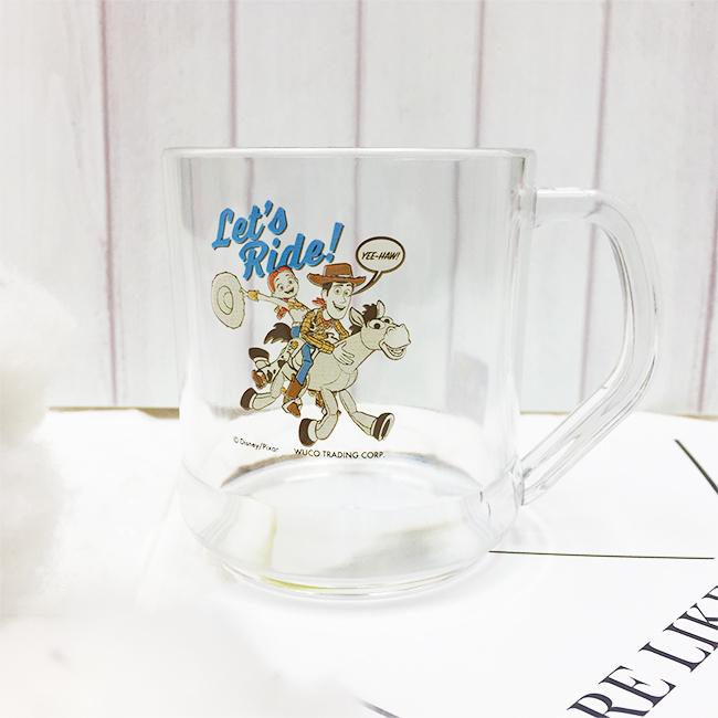 水杯 迪士尼 玩具總動員4 胡迪 翠絲 透明水杯 正版授權
