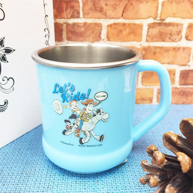水杯 迪士尼 玩具總動員4 胡迪 翠絲 藍 不銹鋼水杯 正版授權