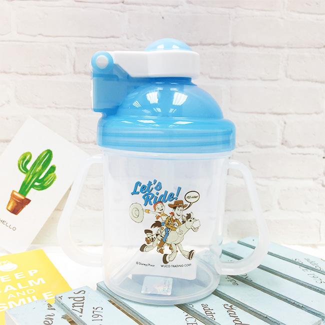 兒童的學習杯 迪士尼 玩具總動員4 胡迪 翠絲 藍 水壺 正版授權