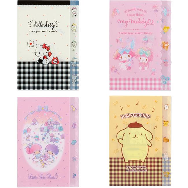 A4多層L型文件夾 日本 三麗鷗 Kitty 美樂蒂 kikilala 布丁狗 4款 L型資料夾