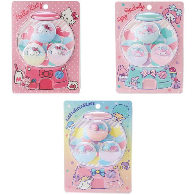 扭蛋造型夾子3入組 三麗鷗 kitty 美樂蒂 kikilala 半圓球 3款 造型夾子 日本進口正版授權