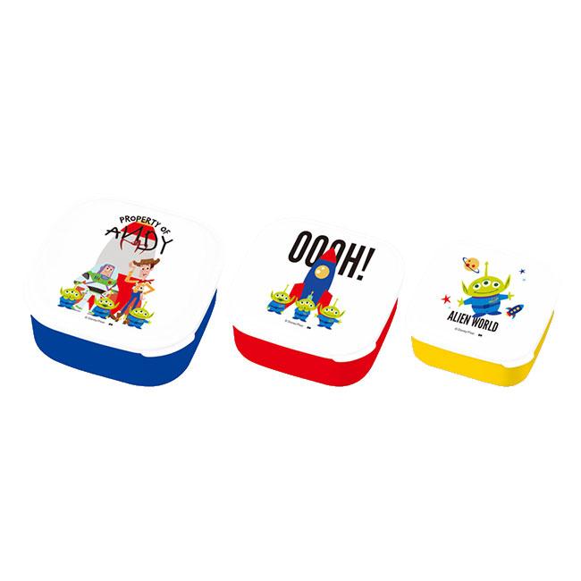 保鮮盒 日本 迪士尼 皮克斯 玩具總動員 胡迪 巴斯光年 三眼怪 3入 便當盒 日本進口正版授權