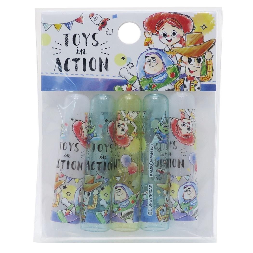 5入筆蓋 日本 迪士尼 皮克斯 玩具總動員 胡迪 光斯光年 三眼怪 透明 文具 卡通筆蓋 日本進口正版授權