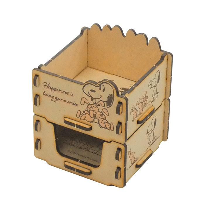 組合式收納盒 日本 史努比 Snoopy 兔子 木頭收納盒 日本進口正版授權