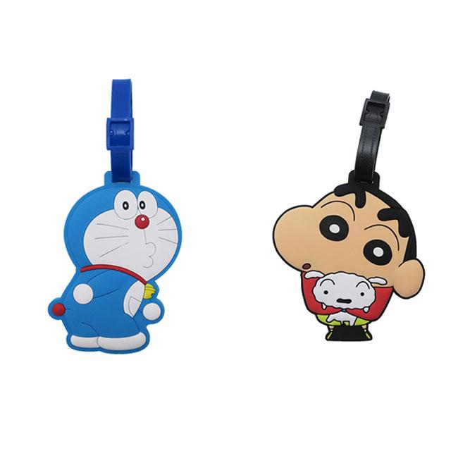 造型行李吊牌 哆啦A夢 小叮噹 蠟筆小新 小白 2款 卡通人物造型行李吊牌 日本進口正版授權