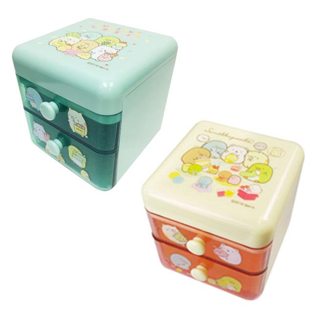 桌上型收納盒 SAN-X 角落生物 貓 熊 企鵝 炸蝦 2款 抽屜收納盒 日本進口正版授權
