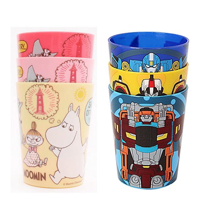 水杯 變形金剛 嚕嚕米 180ml3入水杯 滿版 韓國進口正版授權