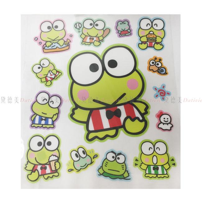 造型貼紙 三麗鷗 大眼蛙 KEROKEROKEROPPI 透明貼紙 正版授權