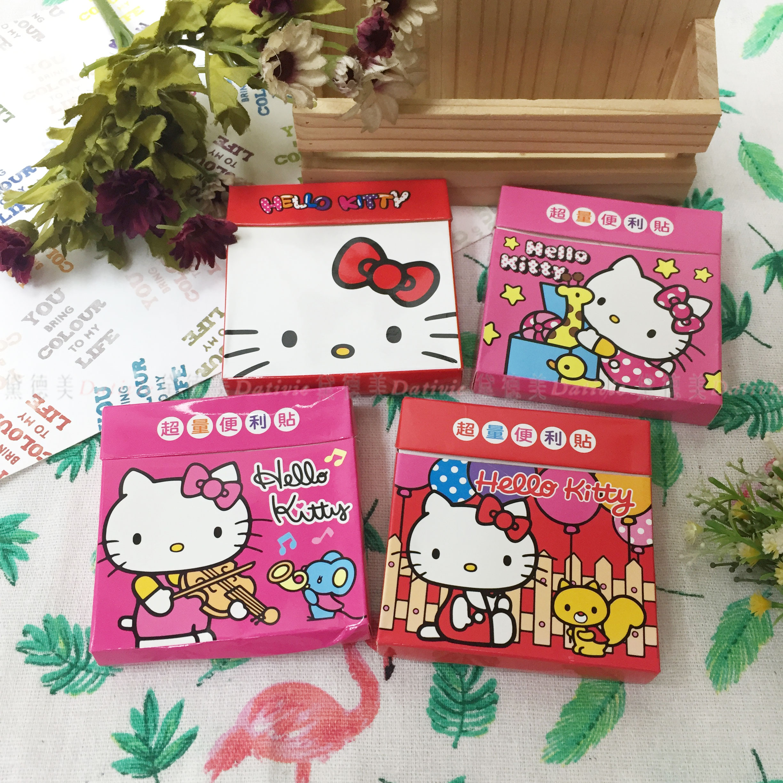 超量便利貼盒裝 三麗鷗 Hello Kitty 凱蒂貓 4款 盒裝便利貼 正版授權