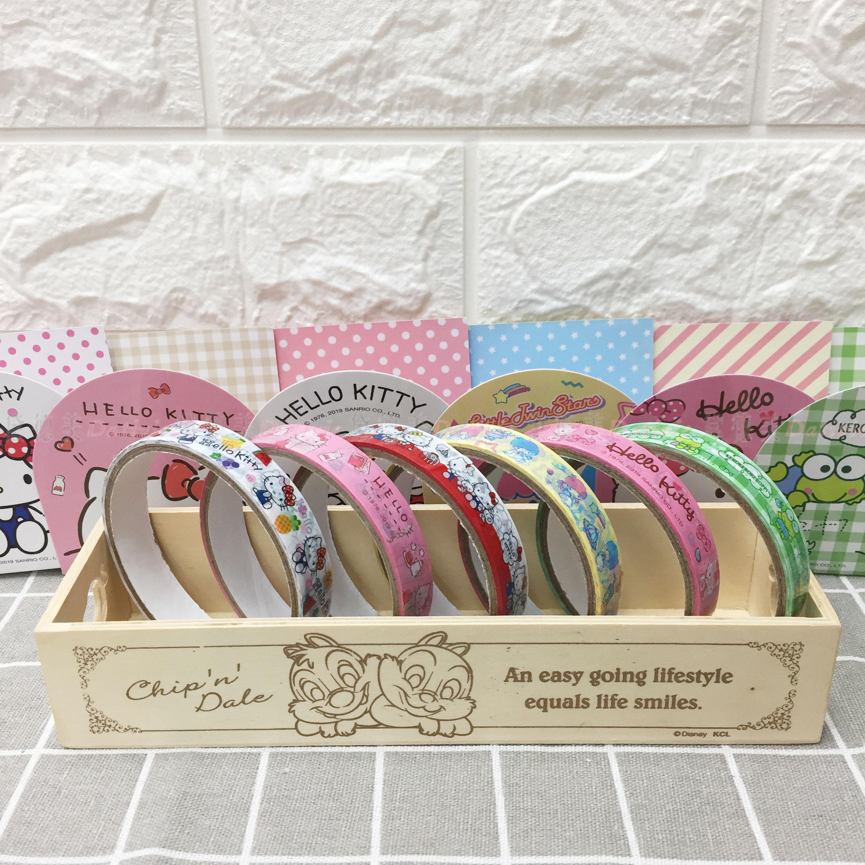彩色膠帶 三麗鷗 Hello Kitty 大眼蛙 kikilala 6款 10米 造型膠帶 正版授權