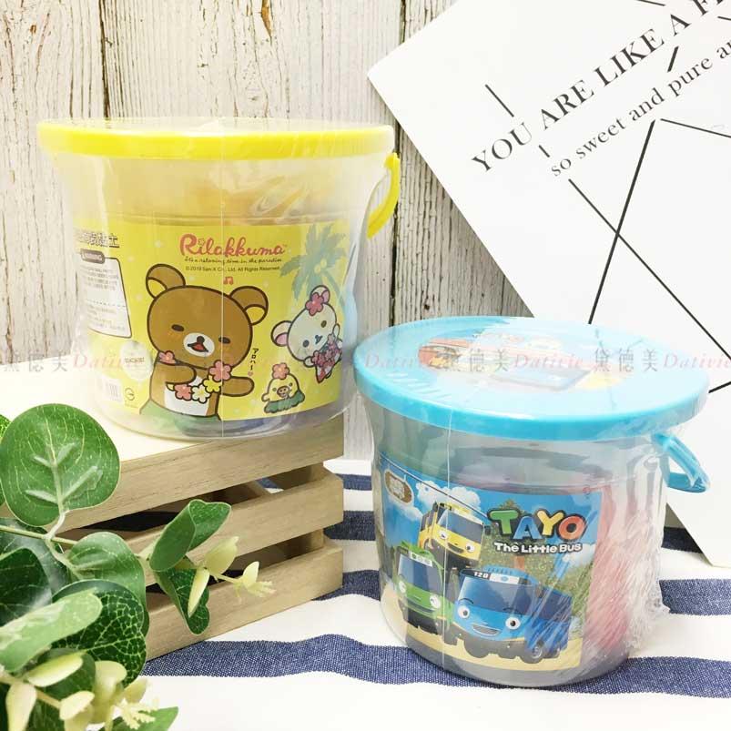 10色桶裝黏土 SAN-X 懶懶熊 TAYO 拉拉熊 TheLittleBus 2款 黏土組 正版授權