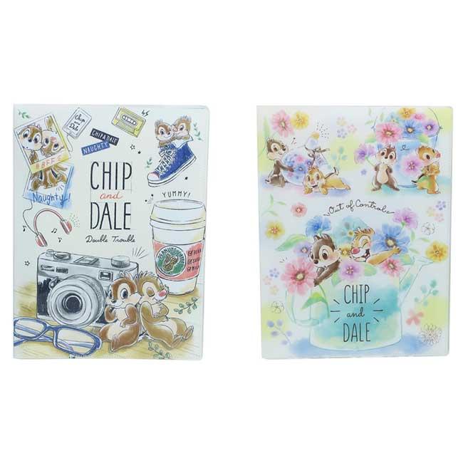 A4雙開式文件夾 迪士尼 Disney 奇奇蒂蒂 CHIP and DALE 資料夾 日本進口正版授權