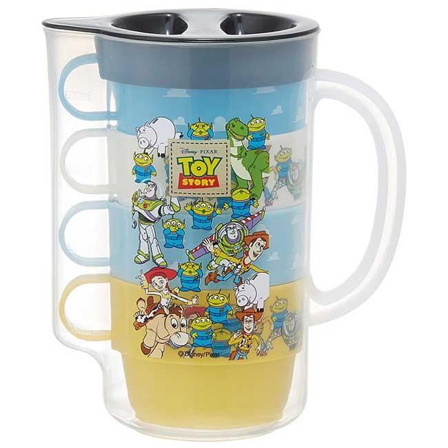 冷水壺附杯 迪士尼 皮克斯 玩具總動員 胡迪 巴斯光年 850ml 附杯水壺 日本進口正版授權