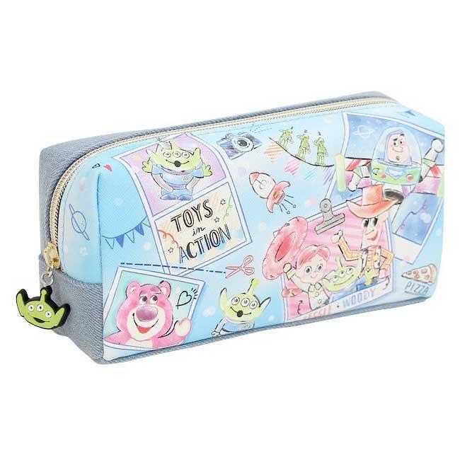 筆袋 迪士尼 皮克斯 玩具總動員 牛仔布 拉鍊 收納包 化妝包 日本進口正版授權
