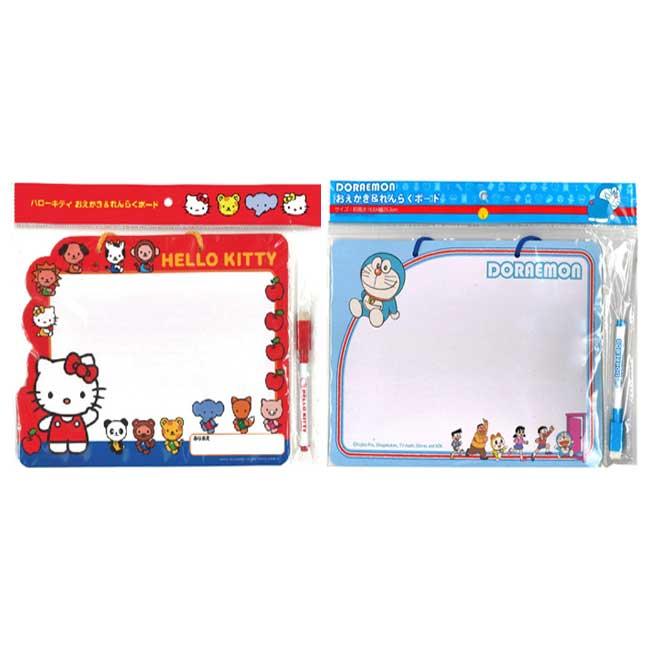 留言板 三麗鷗 Hello Kitty 凱蒂貓 哆啦A夢 小叮噹 2款 白板留言板 日本進口正版授權