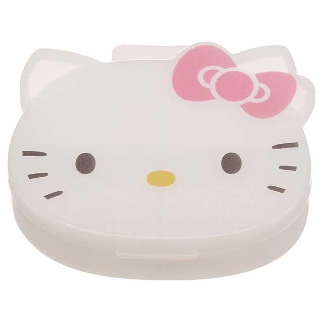 藥盒 三麗鷗 Hello Kitty 凱蒂貓 KT貓 4格 造型藥盒 日本進口正版授權