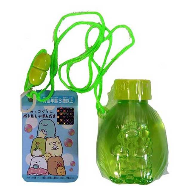 吹泡泡玩具 SAN-X 角落生物 角落小夥伴 企鵝 綠色 掛繩 造型吹泡泡 日本進口正版授權