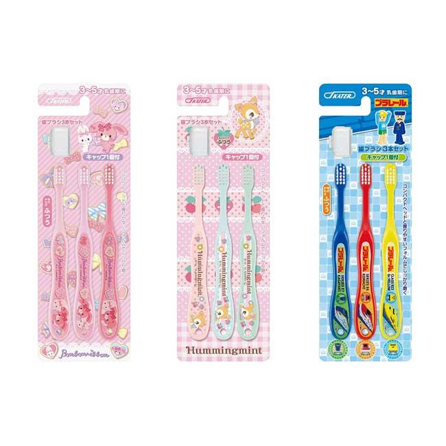 兒童牙刷 三麗鷗 新幹線 蹦蹦兔 小鹿斑比 3入組 3~5歲適用 牙刷 日本進口正版授權