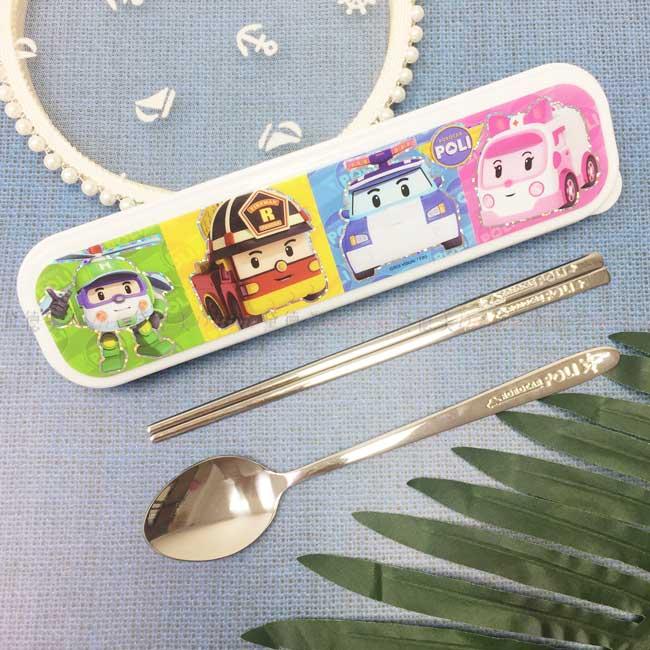 筷匙組附盒 韓國 波力 POLI 救援小英雄 附盒餐具 韓國進口正版授權
