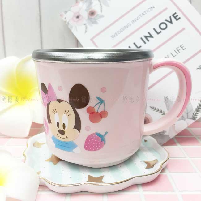 水杯 韓國 迪士尼 Disney 米妮 黛西 水果 粉色 不鏽鋼水杯 韓國進口正版授權