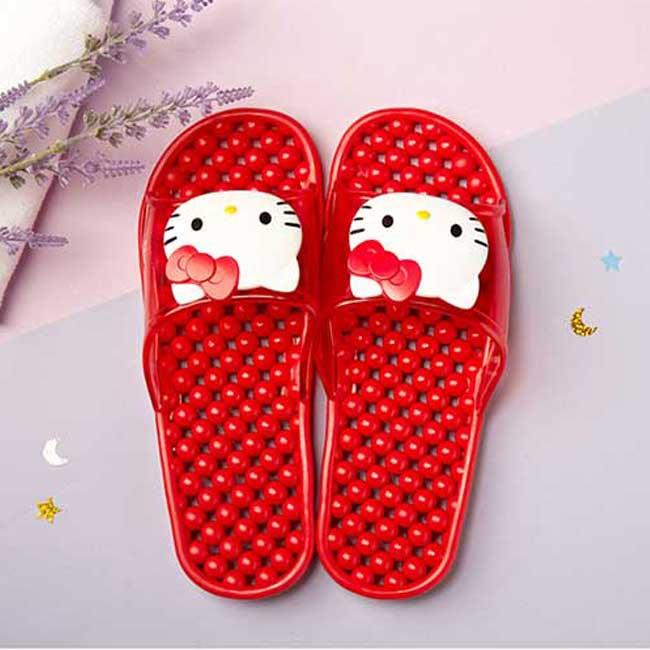 拖鞋 三麗鷗 Hello Kitty 凱蒂貓 KT貓 紅色 浴室拖鞋 造型拖鞋 韓國進口正版授權