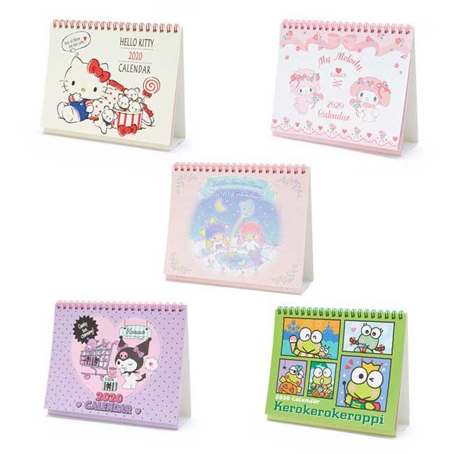 折疊式桌曆 日本 Kitty 美樂蒂 kikilala 酷洛米 大眼蛙 5款 2020年桌曆 日本進口正版授權