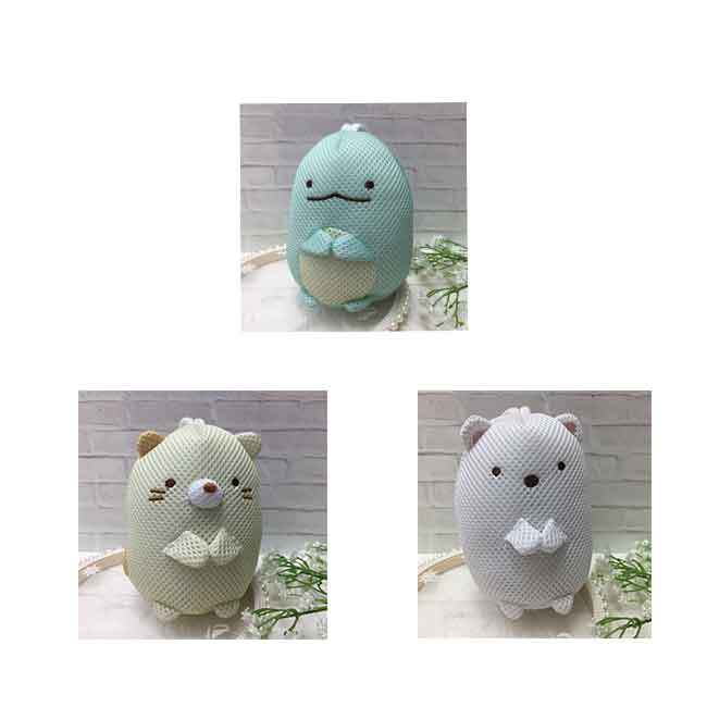 造型沐浴起泡球 SAN-X  角落生物 角落小夥伴 北極熊 恐龍 貓咪 洗澡發泡球 日本進口正版授權