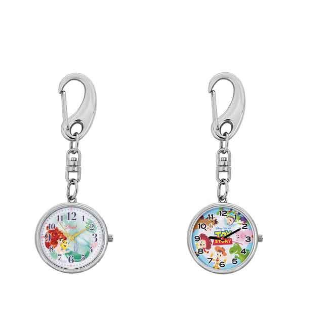 鑰匙圈 迪士尼 皮克斯系列 小美人魚  玩具總動員4 手錶鑰匙圈 兩款選 日本進口正版授權