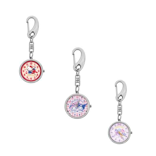 鑰匙圈 三麗鷗 Hello Kitty 凱蒂貓 酷洛米 雙子星 三款選 手錶鑰匙圈 日本進口正版授權