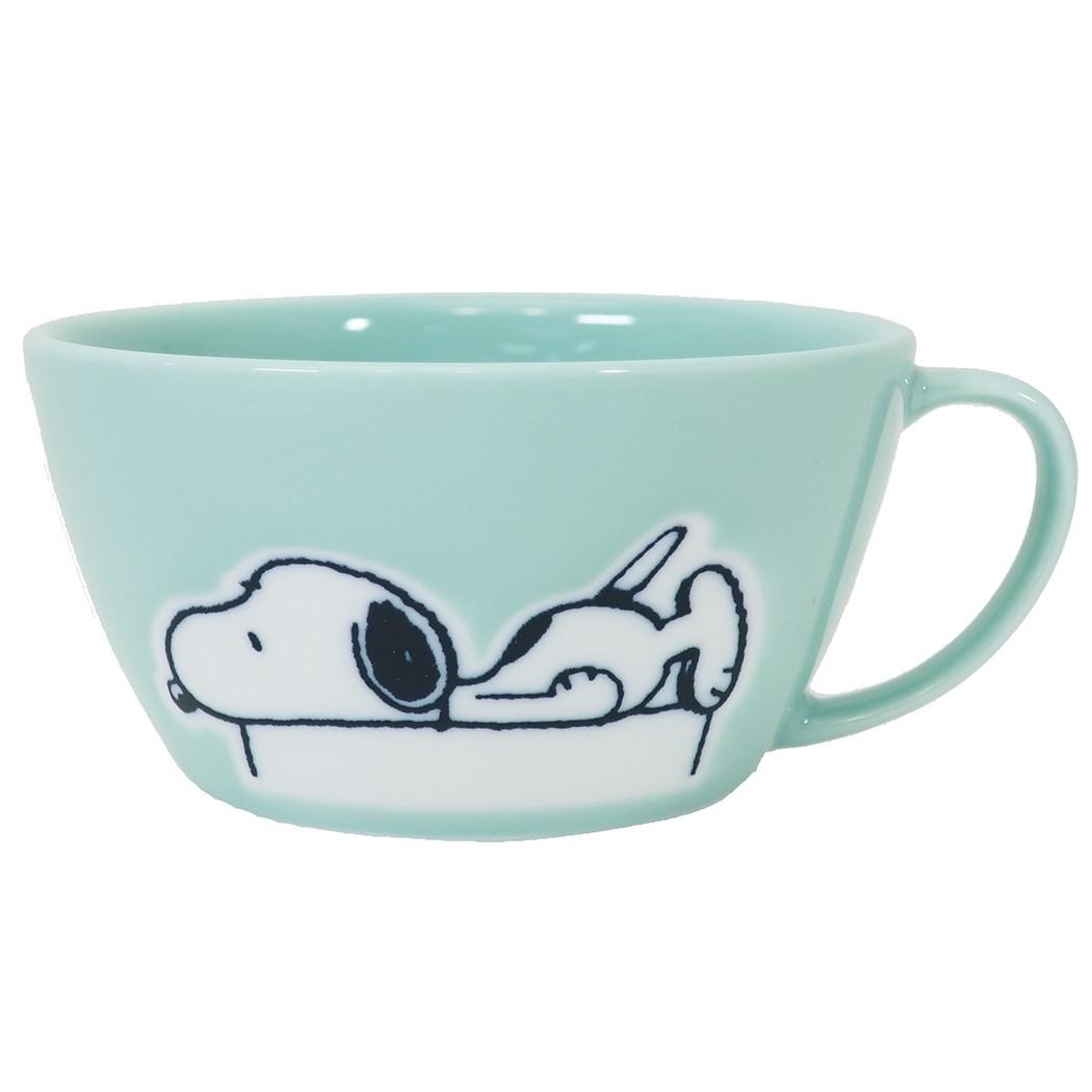 湯杯 日本 史努比 Snoopy 寬口陶瓷湯杯 日本進口正版授權