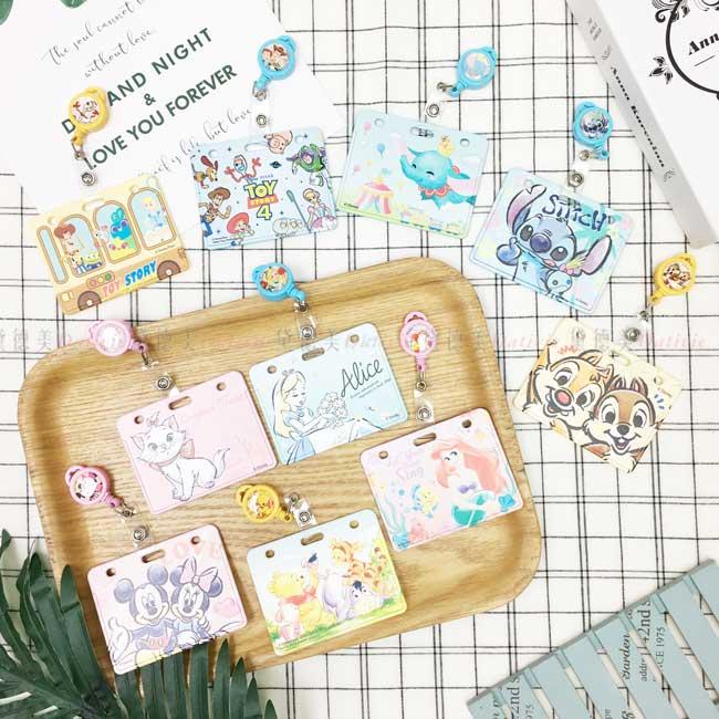 票卡夾 迪士尼 伸縮 證件套 玩具總動員 小飛象 史迪奇 奇奇蒂蒂 瑪麗貓 愛麗絲夢遊仙境 米奇米妮 小熊維尼 小美人魚 正版授權