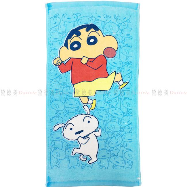 毛巾 蠟筆小新 小白 童巾 跳舞 正版授權
