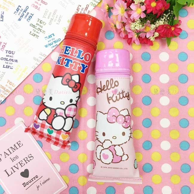 鉛筆盒 三麗鷗 Hello Kitty 凱蒂貓 牙膏造型筆袋 紅 粉 正版授權