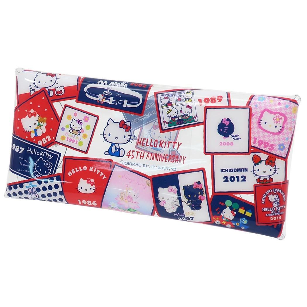 透明筆袋 三麗鷗 Hello Kitty 凱蒂貓 KT貓 收納袋 日本進口正版授權