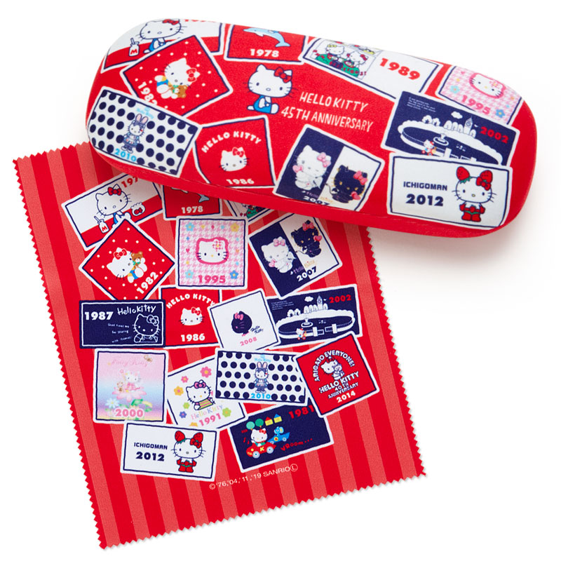 眼鏡盒 韓國 三麗鷗 Hello Kitty 凱蒂貓 KT貓 附擦拭布 眼鏡收納盒 韓國進口正版授權
