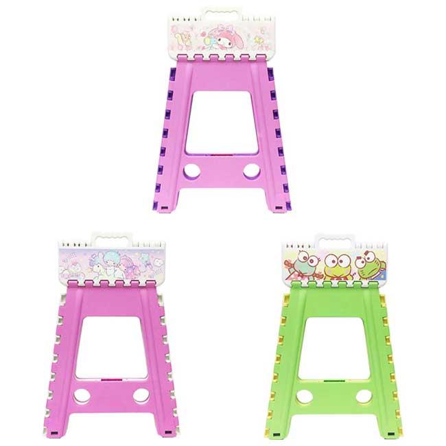 摺疊椅 三麗鷗 美樂蒂 melody 雙子星 kikilala 大眼蛙 3款 撞色摺疊椅 日本進口正版授權