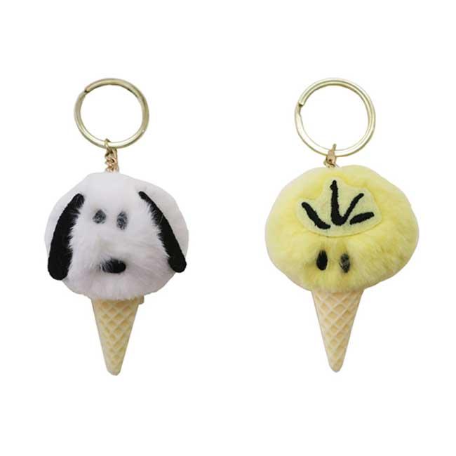 吊飾 SNOOPY 史努比 糊塗塔克 冰淇淋 絨毛 鑰匙圈 2款 造型吊飾 日本進口正版授權