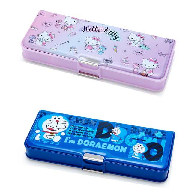 雙面鉛筆盒 三麗鷗 Hello Kitty 凱蒂貓 哆啦A夢 小叮噹 2款 文具用品 鉛筆盒 日本進口正版授權
