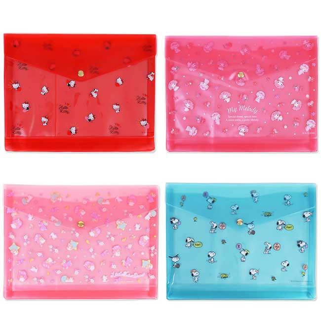 防水文件袋 三麗鷗 史努比 Kitty 美樂蒂 kikilala 4款 資料袋 日本進口正版授權