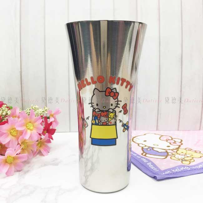 曲線杯 三麗鷗 Hello Kitty 凱蒂貓 KT貓 304不鏽鋼杯 日本進口正版授權