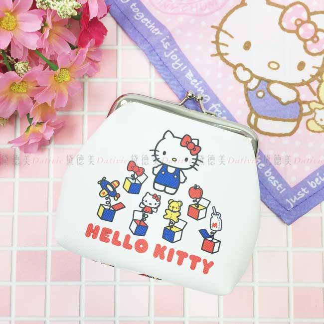 口金包 三麗鷗 Hello Kitty 凱蒂貓 KT貓 白色 零錢包 日本進口正版授權